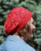 Ruby Red Heart Hat 2