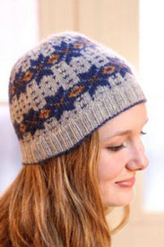 Plymouth Incan Spice Fairisle Hat Kit