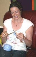 Kaity knitting!