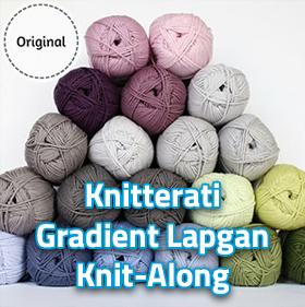 Knitterati 2018 Gradient Lapghan!