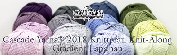 Cascade Knitterati Lapghan Knit-Along