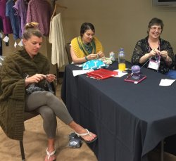 Knitting at the JBW Rowan Retreat