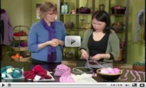 Knitting Daily TV Charity Scarves