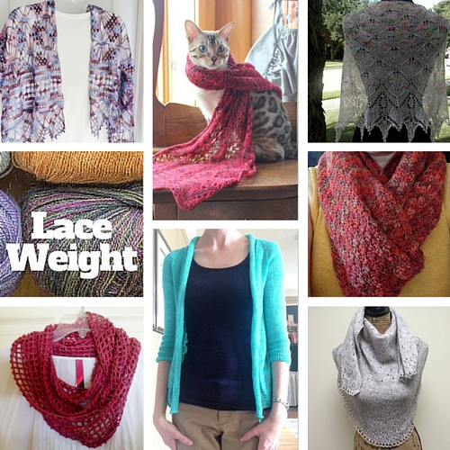 Lovely Finished Projects from our Make it Laceweight Event!