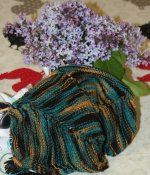 May 2012 LLE colorway, Tribute knit up in Shepherd Sock