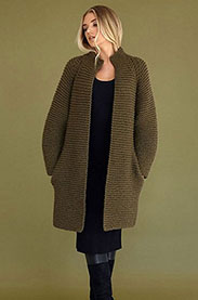 Big Wool Moss Coat