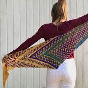 Urth Yarns Uneek Fingering and Malabrigo Sock Night Shift Shawl Kit