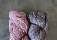 Jimmy Beans Wool Learn to Knit kits Pink Frost/Polar Morn