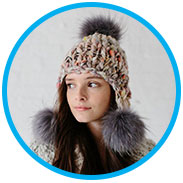 Rachel's Pom Bomb Hat