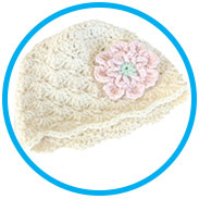 Crochet Shell Stitch Baby Hat
