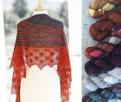 Red Freckles Shawl pattern