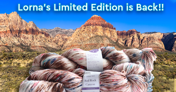 Lorna's Laces Limited Edition Red Rock Canyon Shepherd Sock