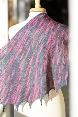 Romi Hill's Shawl made with Solemate