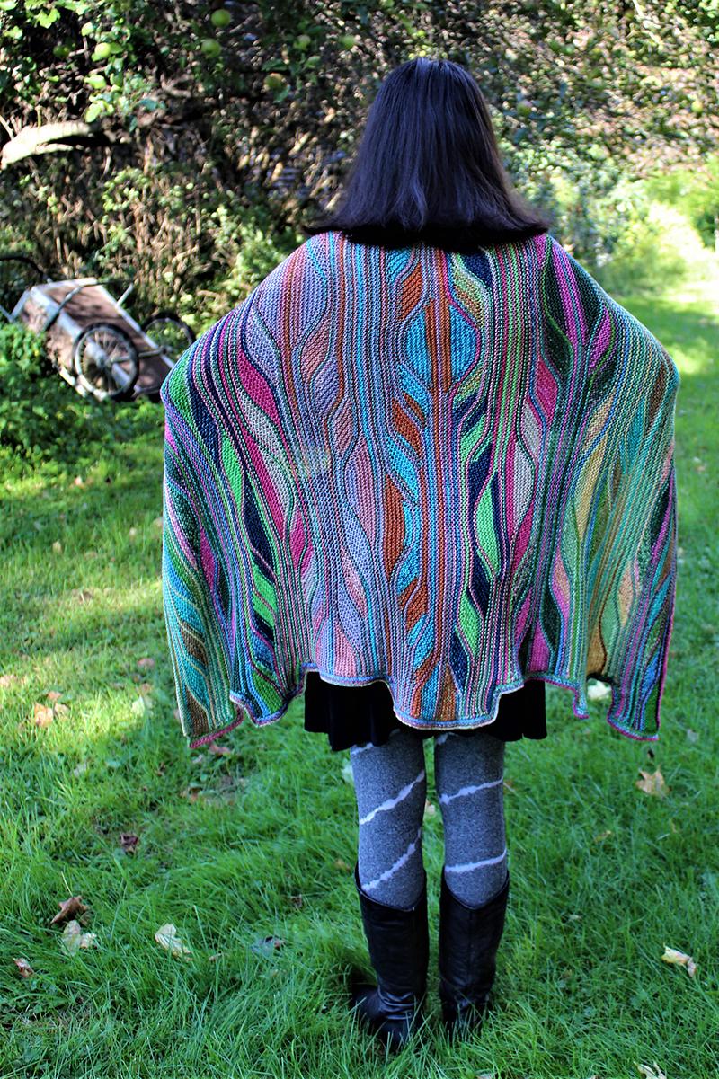Urth Yarns or Cascade Le Roy Cape Kit