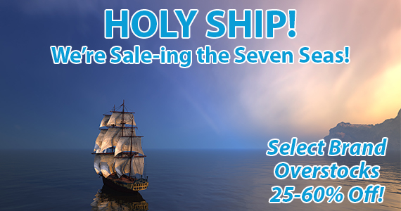 Sale the Seven Seas with us! 25-60% off!
