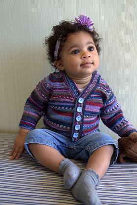 Adriafil KnitCol Seamless Baby Cardigan Kit