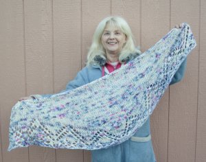 Sentiment Shawl pattern by Andrea Rangel
