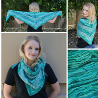 Torrent shawl by Lisa Mutch