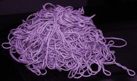 Lesson one: Wind your yarn CAREFULLY so this tangled mess of yarn doesn't happen to you.