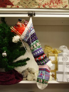 A stocking full of yarny stuffers!