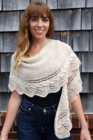 Plymouth Worsted Merino Superwash Cable Edged Shawl Kit