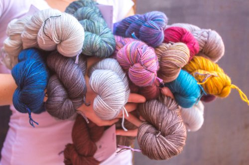 lots of new Madelinetosh Twist Light!