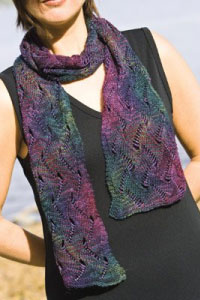 Undulating Waves Beaded Scarf