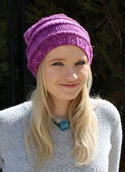woman with knit slouchy hat