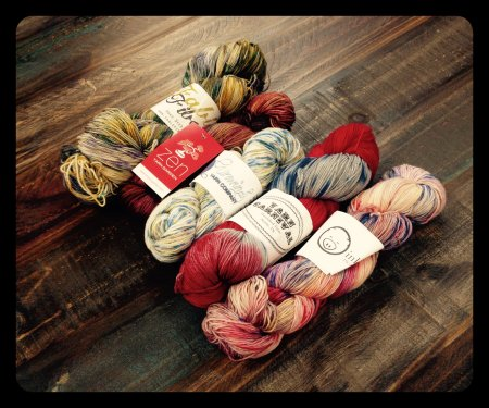 some of the yarns from Yarn-mas 2014