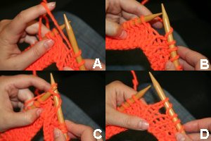4 steps for a yarnover