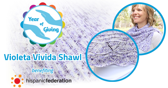 Year of Giving April Violeta Vivida Shawl