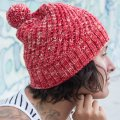 Emma's Rhubarb Helix Hat