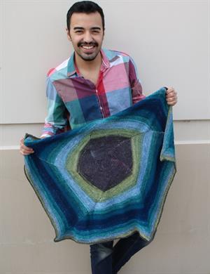 Spiral Light Baby Blanket