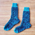 Sam's Blueberry Waffle Socks photo