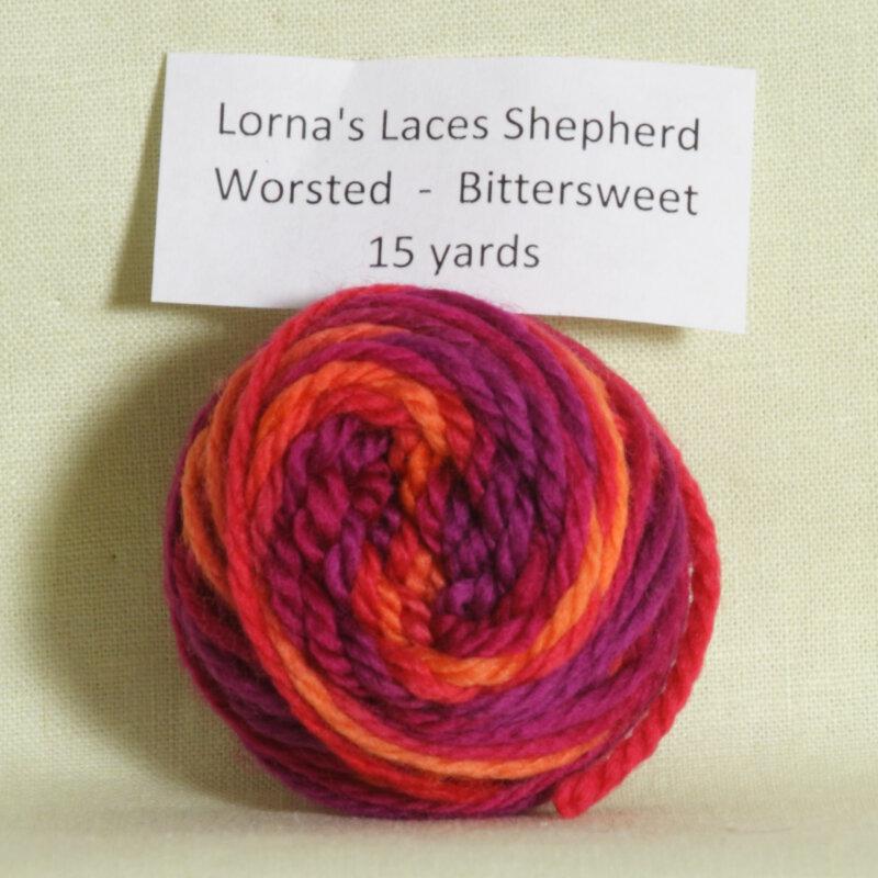Lorna S Laces Shepherd Worsted Samples Yarn Bittersweet