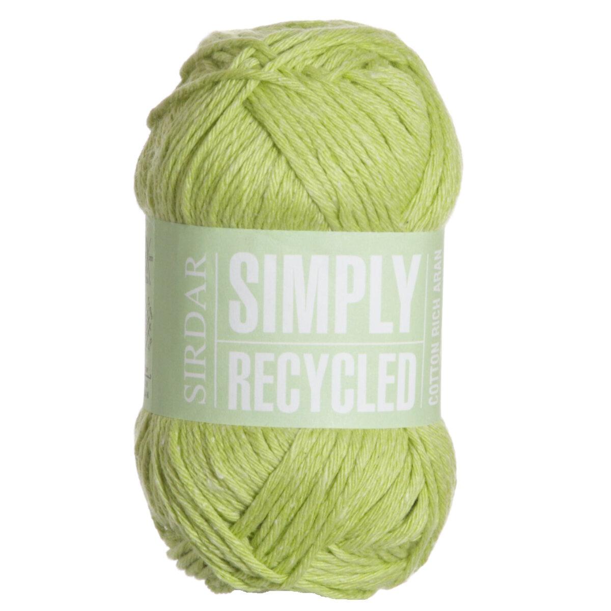 Aran Yarn : Sirdar Simply Recycled Aran Yarn - 39 Lime at Jimmy Beans Wool