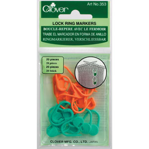 Clover Stitch Markers Locking Stitch Markers