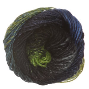 Noro Silk Garden yarn 252 Black, Turquoise, Green
