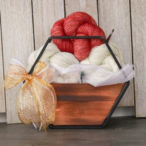 Jimmy Beans Wool Madelinetosh Yarn Bouquets kits Plot Twist (Crochet) - Pink Mist Smoke Tree