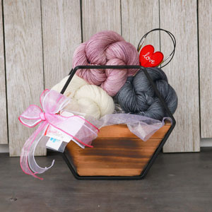 Jimmy Beans Wool Madelinetosh Bouquets kits Charcoal/Star Scatter/Natural