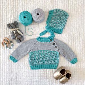 Jimmy Beans Wool Tiny Tots Tin kits Deckster Blue