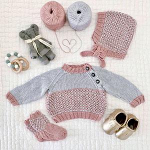 Jimmy Beans Wool Tiny Tots Tin kits Pink Linen
