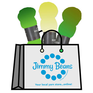 Jimmy Beans Wool 3 Skein Onesie Mystery Grab Bags kits Euro Sock - Greens & Yellows