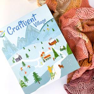 Jimmy Beans Wool Craftvent Calendar kits 2021 - Festive Wrap - Ribbon Candy