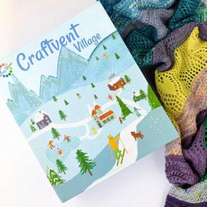 Jimmy Beans Wool Craftvent Calendar kits 2021 - Festive Wrap - Buttermint