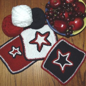 Jimmy Beans Wool July 4th Organic Dishcloth