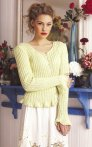 Debbie Bliss Amalfi Ribbed Cardi With Flounced Edges