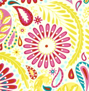 Dena Designs Kumari Garden Fabric   Sanjay   Pink