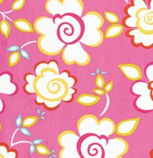 Delicieux Dena Designs Kumari Garden Fabric   Sachi   Pink