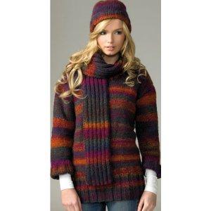 671dd5703 James C. Brett Women's Sweater Patterns - JB071 - Sweater, Hat and ...